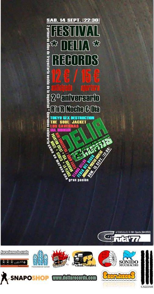 Segundo aniversario de Delia Records